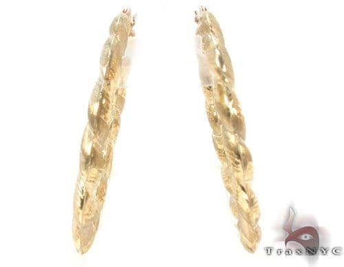 10K Gold Hoop Earrings 34301 Metal