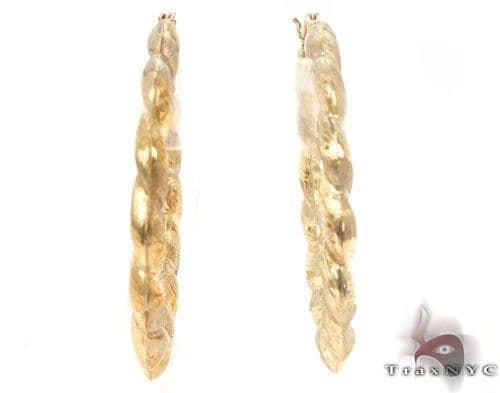 10K Gold Hoop Earrings 34302 Metal