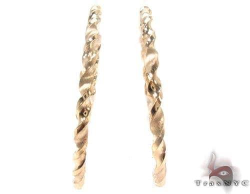 10K Gold Hoop Earrings 34303 Metal