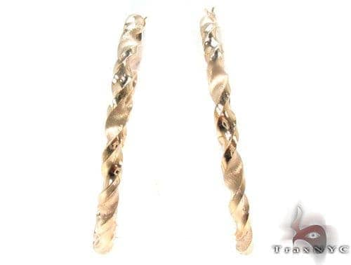 10K Gold Hoop Earrings 34304 Metal
