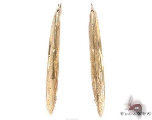 10K Gold Hoop Earrings 34310 Metal