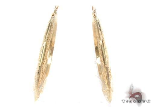 10K Gold Hoop Earrings 34311 Metal
