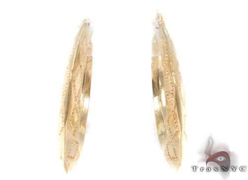10K Gold Hoop Earrings 34313 Metal