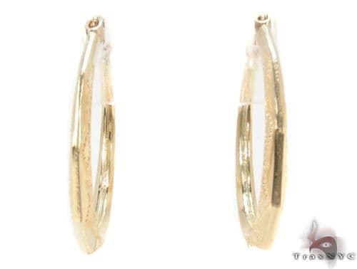 10K Gold Hoop Earrings 34316 Metal