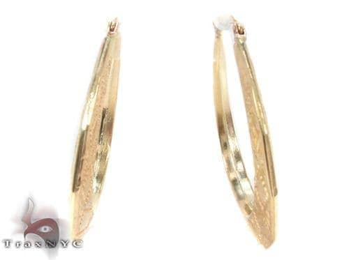 10K Gold Hoop Earrings 34317 Metal