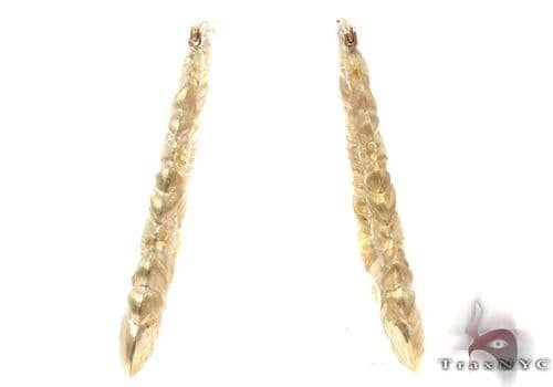 10K Gold Hoop Earrings 34320 Metal
