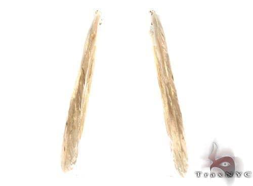 10K Gold Hoop Earrings 34321 Metal