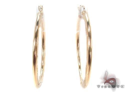 10K Gold Hoop Earrings 34326 Metal