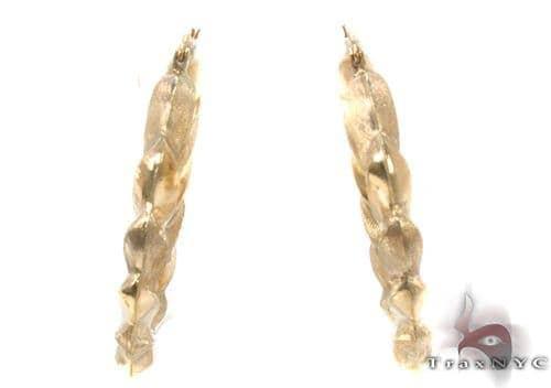10K Gold Hoop Earrings 34328 Metal