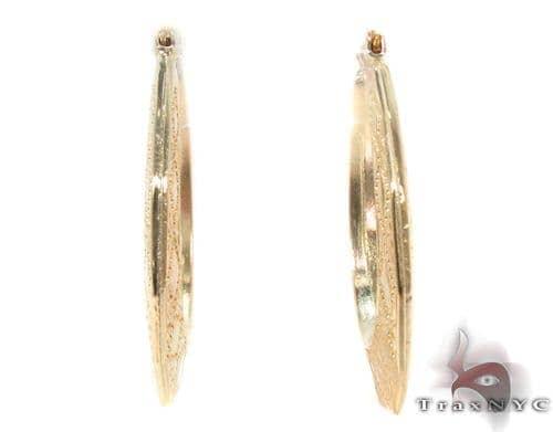 10K Gold Hoop Earrings 34329 Metal