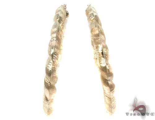 10K Gold Hoop Earrings 34334 Metal
