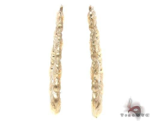 10K Gold Hoop Earrings 34336 Metal
