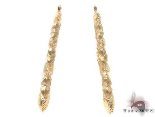 10K Gold Hoop Earrings 34338 Metal