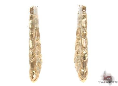 10K Gold Hoop Earrings 34349 Metal