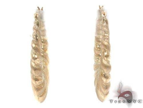 10K Gold Hoop Earrings 34351 Metal