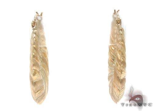 10K Gold Hoop Earrings 34352 Metal