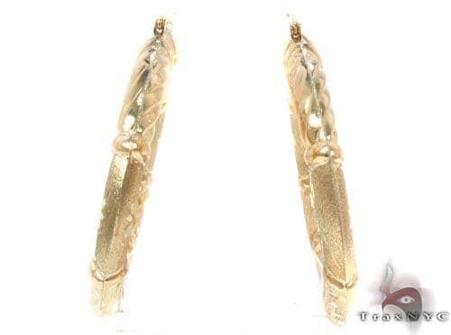 10K Gold Hoop Earrings 34354 Metal