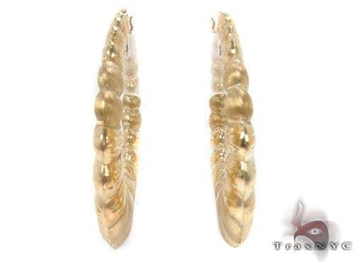 10K Gold Hoop Earrings 34355 Metal