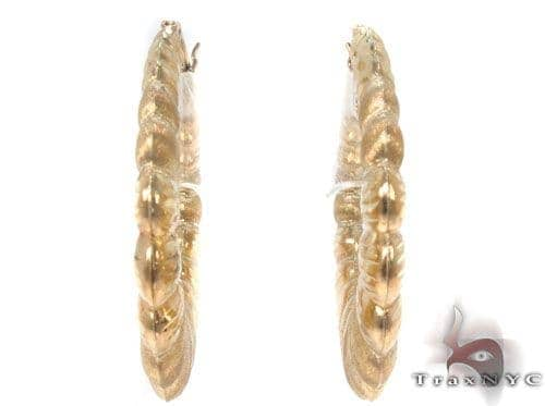 10K Gold Hoop Earrings 34356 Metal