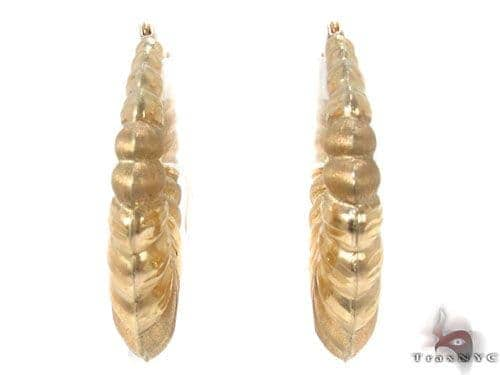 10K Gold Hoop Earrings 34360 Metal