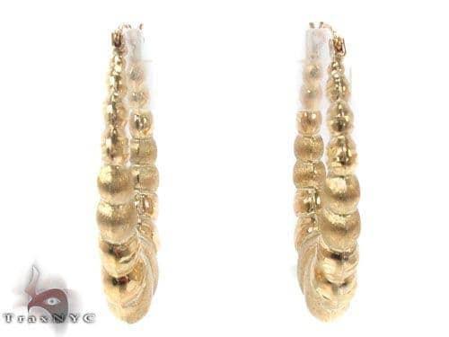 10K Gold Hoop Earrings 34361 Metal