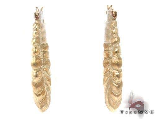 10K Gold Hoop Earrings 34362 Metal