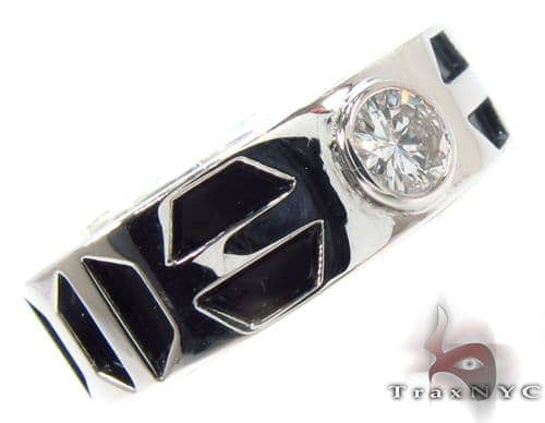 Bezel Diamond Pinky Ring Style