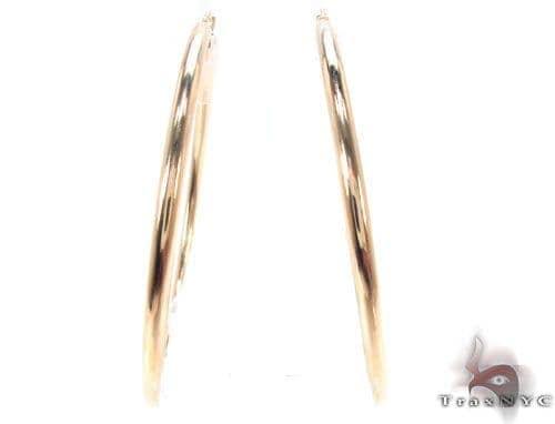 10K Gold Hoop Earrings 34424 Metal