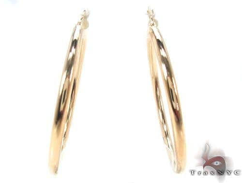 10K Gold Hoop Earrings 34428 Metal