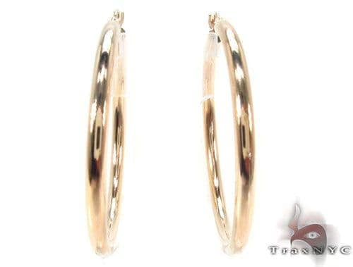 10K Gold Hoop Earrings 34429 Metal
