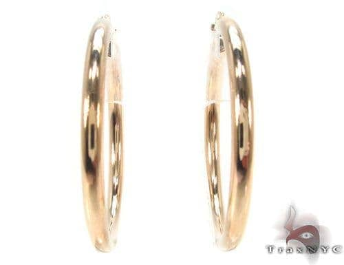 10K Gold Hoop Earrings 34430 Metal