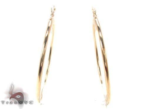 10K Gold Hoop Earrings 34434 Metal