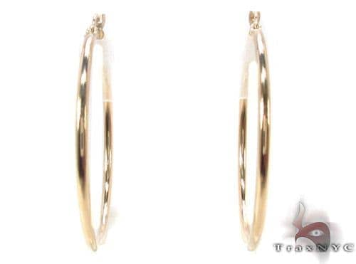 10K Gold Hoop Earrings 34437 Metal