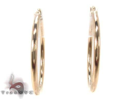 10K Gold Hoop Earrings 34438 Metal