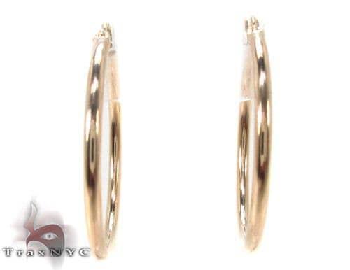 10K Gold Hoop Earrings 34439 Metal