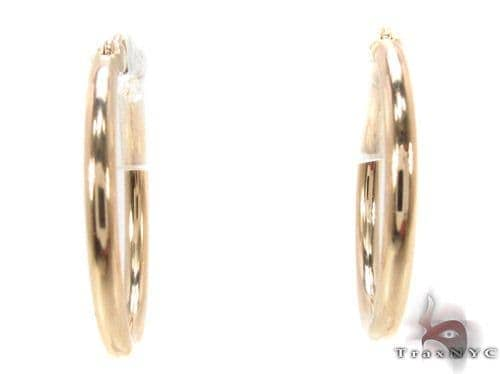 10K Gold Hoop Earrings 34440 Metal