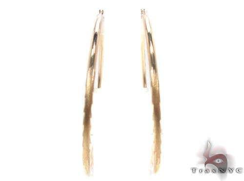 10K Gold Hoop Earrings 34441 Metal
