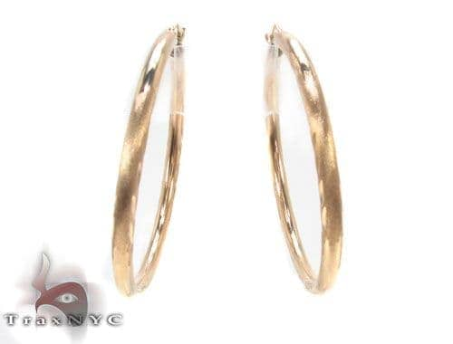 10K Gold Hoop Earrings 34444 Metal