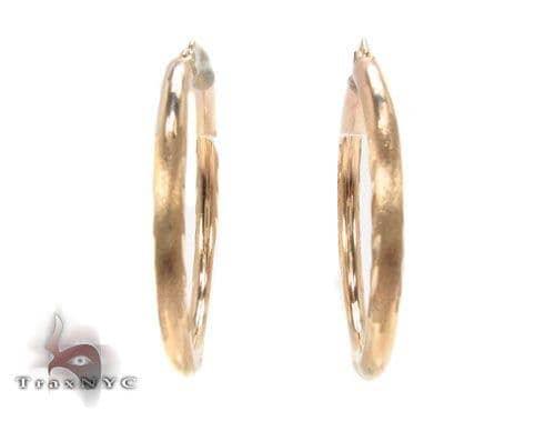 10K Gold Hoop Earrings 34447 Metal