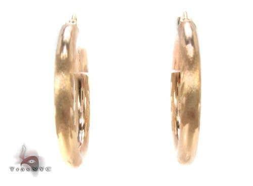 10K Gold Hoop Earrings 34448 Metal