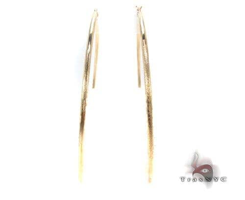 10K Gold Hoop Earrings 34449 Metal