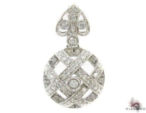 Prong Diamond White Gold Pendant 34507 Stone