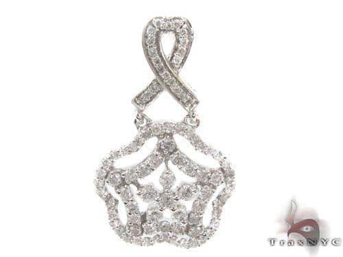 Prong Diamond Pendant 34513 Stone