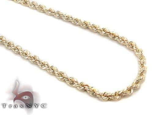 Yellow Gold Rope Chain 20 Inches 2.1mm 2.66 Grams Gold
