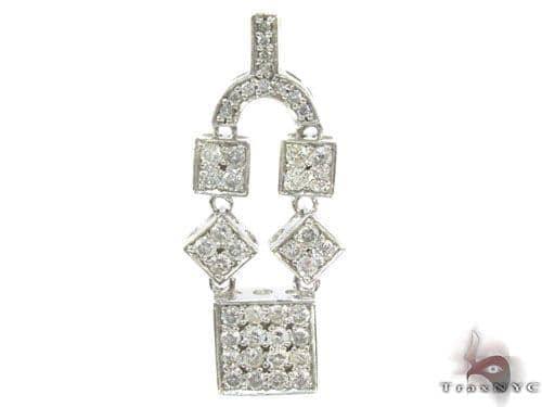 Prong Diamond Pendant 34658 Stone
