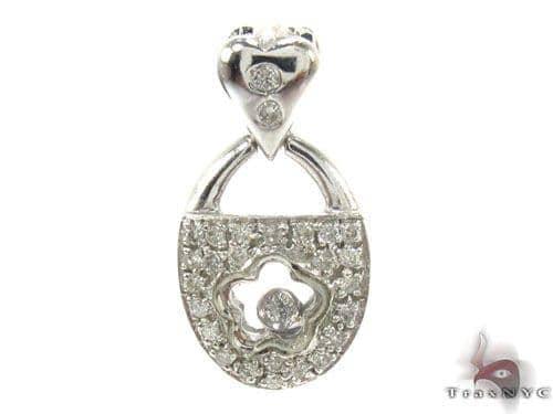 Prong Diamond Pendant 34666 Stone