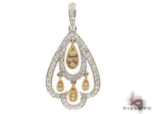 Prong Diamond Pendant 34667 Stone
