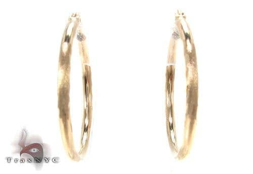 10K Gold Hoop Earrings 34728 Metal