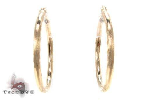 10K Gold Hoop Earrings 34729 Metal