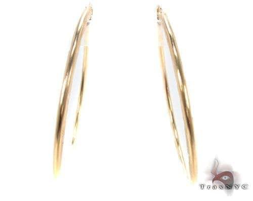 10K Gold Hoop Earrings 34731 Metal